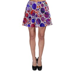 Lovely Allover Hot Shapes Blue Skater Skirts