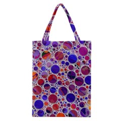 Lovely Allover Hot Shapes Blue Classic Tote Bags