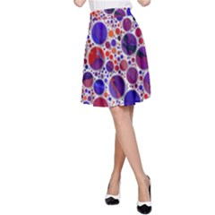 Lovely Allover Hot Shapes Blue A-Line Skirts