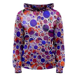 Lovely Allover Hot Shapes Blue Women s Pullover Hoodies