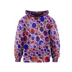 Lovely Allover Hot Shapes Blue Kids Zipper Hoodies