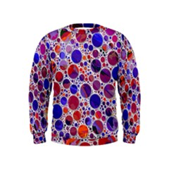 Lovely Allover Hot Shapes Blue Boys  Sweatshirts