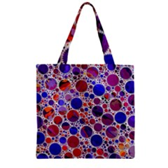 Lovely Allover Hot Shapes Blue Zipper Grocery Tote Bags