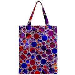 Lovely Allover Hot Shapes Blue Zipper Classic Tote Bags