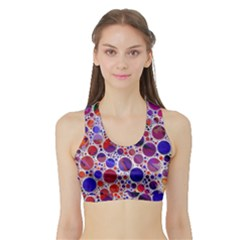 Lovely Allover Hot Shapes Blue Women s Sports Bra With Border