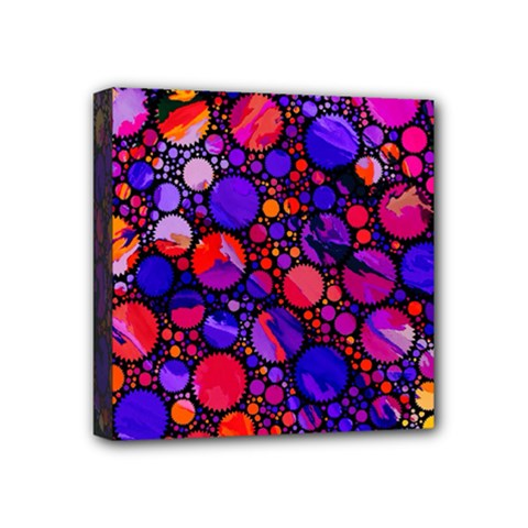 Lovely Allover Hot Shapes Mini Canvas 4  X 4