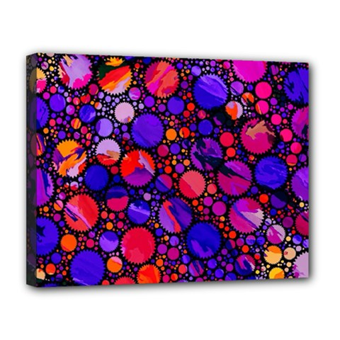 Lovely Allover Hot Shapes Canvas 14  X 11
