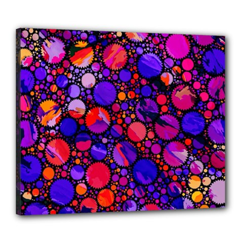 Lovely Allover Hot Shapes Canvas 24  X 20