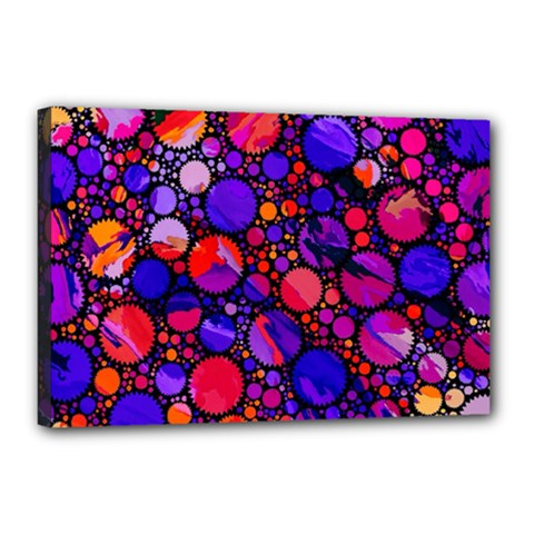 Lovely Allover Hot Shapes Canvas 18  X 12