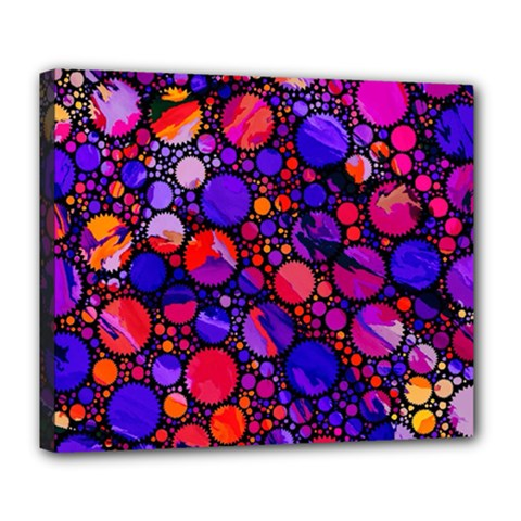 Lovely Allover Hot Shapes Deluxe Canvas 24  X 20