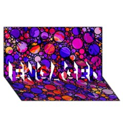 Lovely Allover Hot Shapes ENGAGED 3D Greeting Card (8x4)