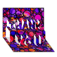 Lovely Allover Hot Shapes THANK YOU 3D Greeting Card (7x5)
