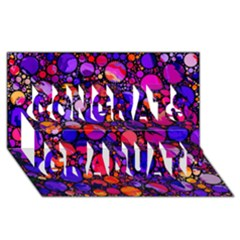 Lovely Allover Hot Shapes Congrats Graduate 3D Greeting Card (8x4)