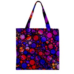 Lovely Allover Hot Shapes Zipper Grocery Tote Bags