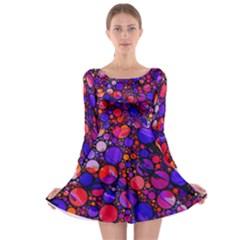 Lovely Allover Hot Shapes Long Sleeve Skater Dress