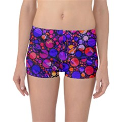 Lovely Allover Hot Shapes Reversible Boyleg Bikini Bottoms