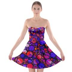 Lovely Allover Hot Shapes Strapless Bra Top Dress