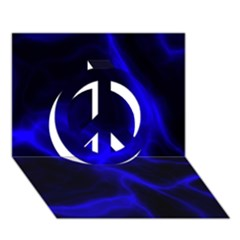 Cosmic Energy Blue Peace Sign 3D Greeting Card (7x5)