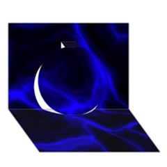 Cosmic Energy Blue Circle 3D Greeting Card (7x5)