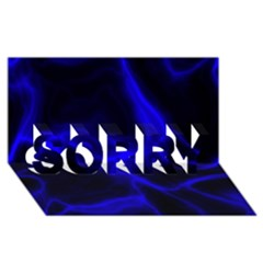 Cosmic Energy Blue SORRY 3D Greeting Card (8x4)