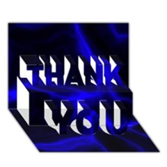 Cosmic Energy Blue Thank You 3d Greeting Card (7x5)