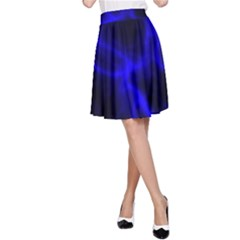 Cosmic Energy Blue A-Line Skirts