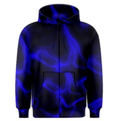 Cosmic Energy Blue Men s Zipper Hoodies