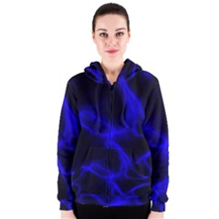 Cosmic Energy Blue Women s Zipper Hoodies