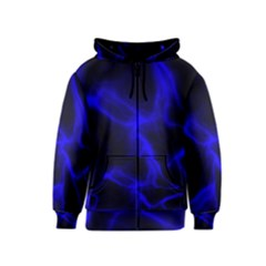 Cosmic Energy Blue Kids Zipper Hoodies