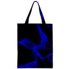 Cosmic Energy Blue Zipper Classic Tote Bags