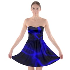 Cosmic Energy Blue Strapless Bra Top Dress