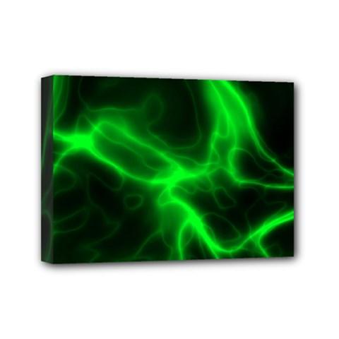 Cosmic Energy Green Mini Canvas 7  X 5