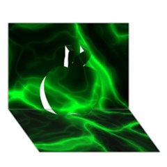 Cosmic Energy Green Apple 3D Greeting Card (7x5)