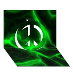 Cosmic Energy Green Peace Sign 3d Greeting Card (7x5)