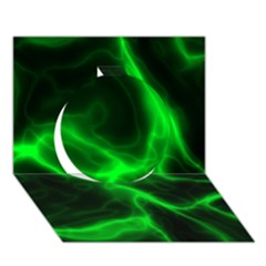 Cosmic Energy Green Circle 3d Greeting Card (7x5)