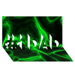 Cosmic Energy Green #1 DAD 3D Greeting Card (8x4)