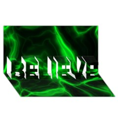 Cosmic Energy Green BELIEVE 3D Greeting Card (8x4)