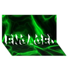 Cosmic Energy Green ENGAGED 3D Greeting Card (8x4)