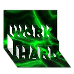 Cosmic Energy Green Work Hard 3d Greeting Card (7x5)