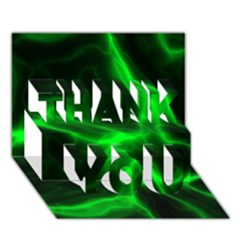 Cosmic Energy Green THANK YOU 3D Greeting Card (7x5)
