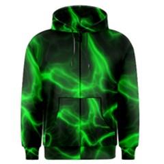 Cosmic Energy Green Men s Zipper Hoodies