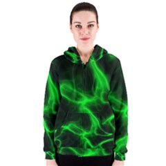 Cosmic Energy Green Women s Zipper Hoodies
