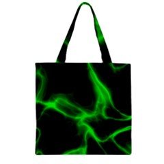 Cosmic Energy Green Zipper Grocery Tote Bags