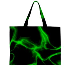 Cosmic Energy Green Zipper Tiny Tote Bags