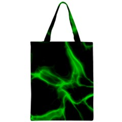 Cosmic Energy Green Zipper Classic Tote Bags