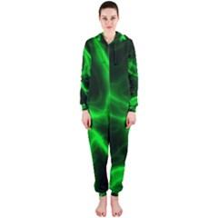 Cosmic Energy Green Hooded Jumpsuit (Ladies)