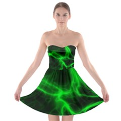 Cosmic Energy Green Strapless Bra Top Dress