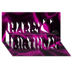 Cosmic Energy Pink Happy Birthday 3d Greeting Card (8x4)