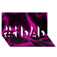 Cosmic Energy Pink #1 Dad 3d Greeting Card (8x4)