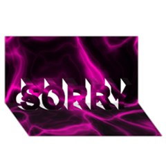 Cosmic Energy Pink SORRY 3D Greeting Card (8x4)